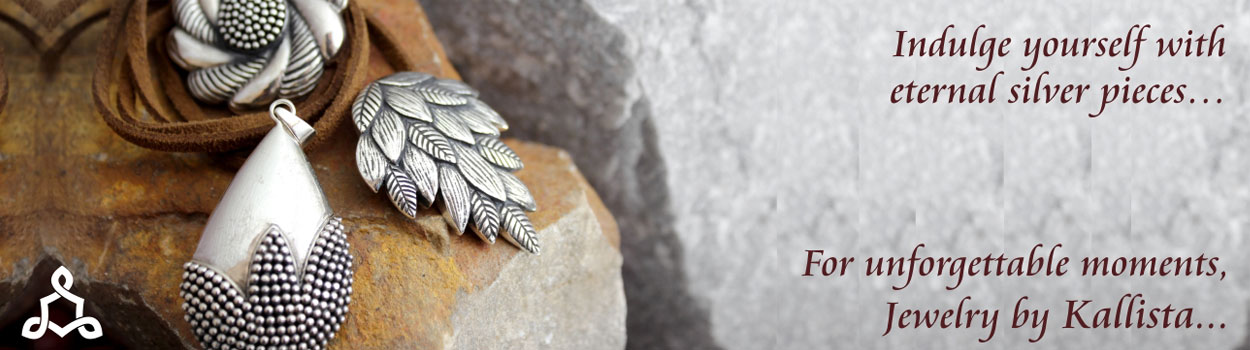 Recycled silver jewellery