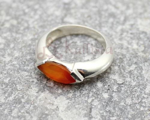 Crystal ring collection- Carnelian