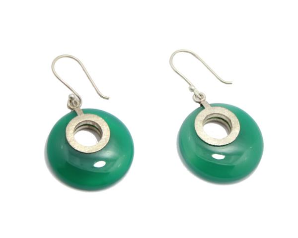 Stone Bonanza earring collection- Green Onyx