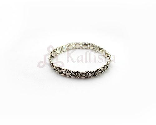 Greek fret Silver bracelet-I